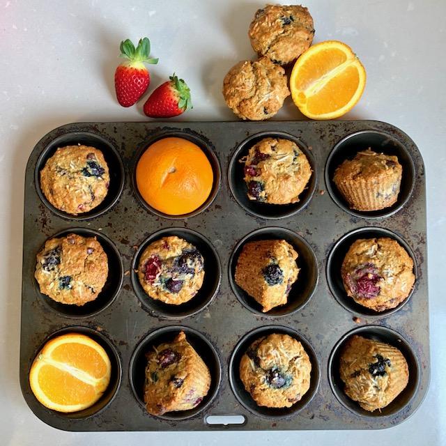 Mixed Berry and OrangeMuffins