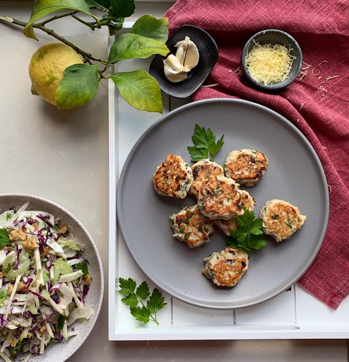 Chicken, Lemon and ParmesanRissoles