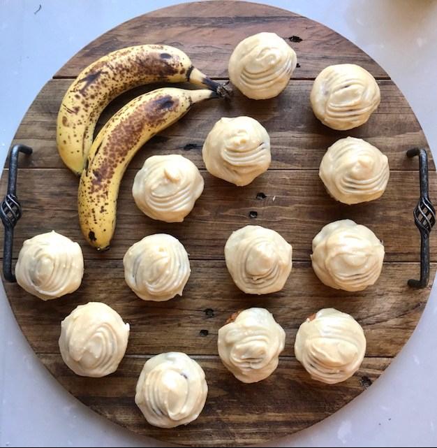 Banana Muffins with Honey and Cinnamon Cream CheeseIcing