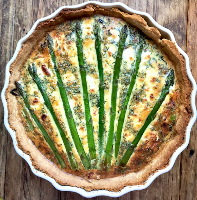 Asparagus and Goats Cheese Tart