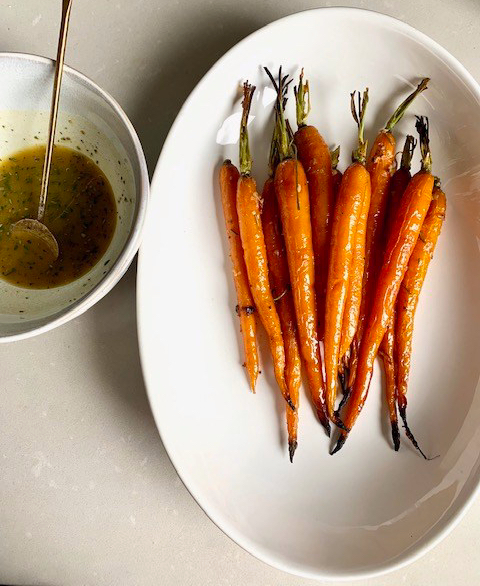 Honey Mustard & Rosemary Roasted Carrots