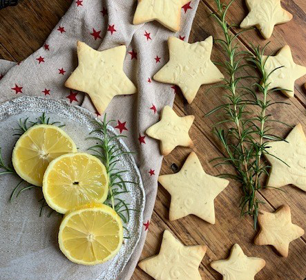 Lemon and Rosemary Shortbread
