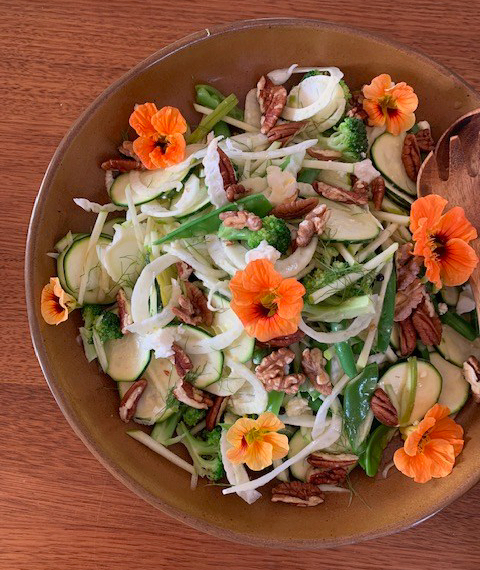 Fennel, Zucchini and Walnut Salad