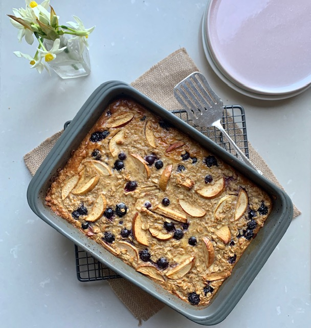 Apple and Blueberry Baked Oats