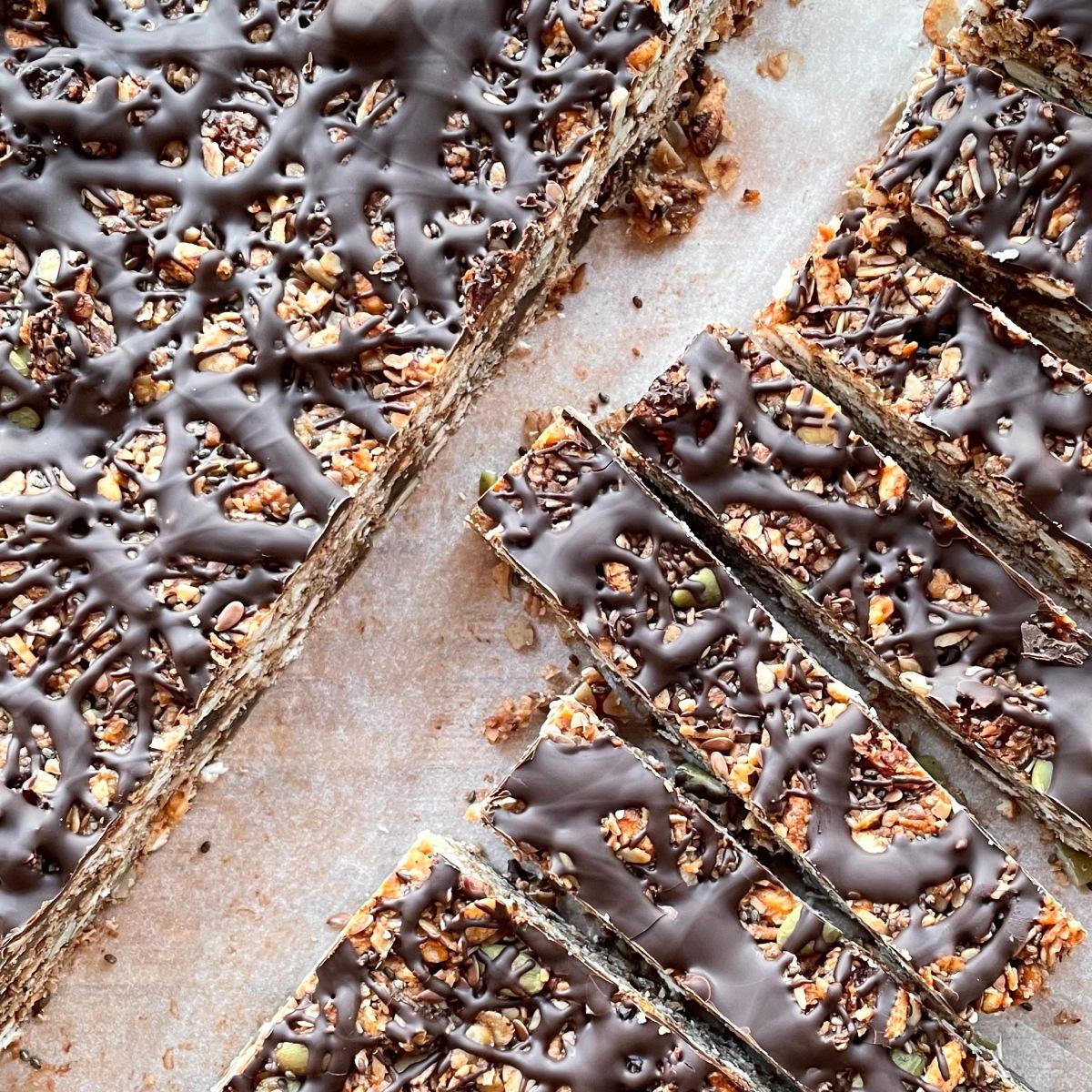 Chocolate Topped, Nut-Free OatBars